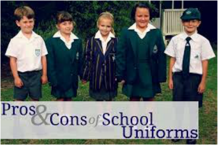 against school uniform essays - proud to represent the school - we all look smart everyday - uniform means that we are secure/safe  - if we feel good/smarter in school uniform,  against uniform.